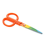 Rainbow colored scissors