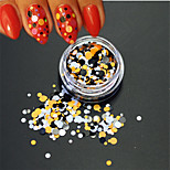 1Bottle Fashion Nail Art DIY Beauty Glitter Round Paillette Decoration Colorful Round Slice P33