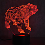 Christmas Bear Turtles Touch Dimming 3D LED Night Light 7Colorful Decoration Atmosphere Lamp Novelty Lighting Christmas Light
