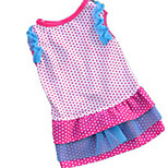 Dog Dress Dog Clothes Summer Polka Dots Cute Fashion Casual/Daily Blue Black