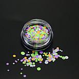 1Bottle Fashion Mixed Color Nail Art Colorful Glitter Round Paillette Nail Art DIY Beauty Round Slice Decoration P26