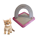 Cat Toy Interactive Scratch Pad Durable Wood Fabric Blushing Pink Blue Green Black