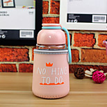 320ml Mini Convenient Travel Glass Cartoon Water Bottle Drinkware
