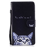 For Huawei P8 Lite (2017) P9 Lite Case Cover Cat Pattern Painted Card Stent PU Material Phone Case Mate 9 Honor 5C Honor 8 Honor 7