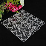 4 pieces Christmas DIY candy mold 4 pieces transparent lace ribbons embossed candy shape decorationd plastlc cake mold