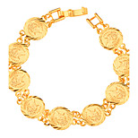 Women's Men's Chain Bracelet Jewelry Fashion Gold Plated Geometric Gold Jewelry ForParty Special Occasion Halloween Anniversary Birthday