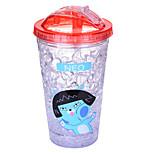 450ml Mini Convenient Double Wall Travel Glass Cartoon Water Bottle Drinkware