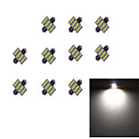 10Pcs 31MM 16*2835 SMD LED Car Light Bulb White Light DC12V