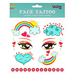 1Pcs  Children's Tattoo Stickers Makeup 3D Flash Powder  Face Stick