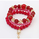 Turkish Ruby Dangling Style Charm Strand Bracelet Chrismas Jewelry Gift
