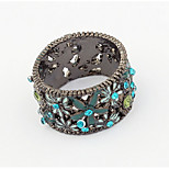 Euramerican Fashion Vintage Classic Flower Rhinestone Ring Movie Jewelry