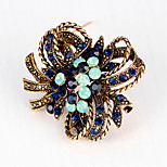 Women's Brooches Crystal Rhinestone Unique Design Fashion Gemstone Flower Jewelry For Wedding Party Daily