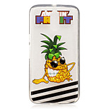 For Motorola Moto G4 Play G4 Plus Case Cover Pineapple Pattern Painted High Penetration TPU Material IMD Process Soft Case Phone Case