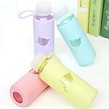 300ml Glass Portable  Cartoon  Water Bottle