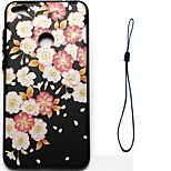 For Huawei P8 Lite (2017) P10 Case Cover Flower Pattern Fuel Injection Relief Plating Button Thicker TPU Material Phone Case P10 Lite P10 Plus P8 P9