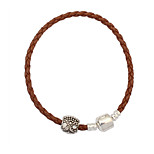 European And American Fashion Contracted Hemp Rope Beads Bracelet