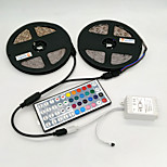 ZDM 10M(2*5M)  Waterproof 2835 RGB 48W 600 LEDs  Strip Flexible Light LED  with 44Key IR Remote Controller Kit  and 1BIN2 Connecting line(DC12V)