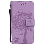For Motorola Moto G5 Plus G5 PU Leather Cat and Tree Pattern Phone Case G4 Play X Style Z G4 G2 X Play Z Force