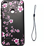 For Huawei P8 Lite (2017) P10 Case Cover Plum Blossom Pattern Fuel Injection Relief Plating Button Thicker TPU Material Phone Case P10 Lite P10 Plus