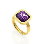 3 Color Classic Luxury Cubic Zircon 18K Gold Titanium Steel Rings Brand Design Vintage Jewelry