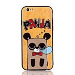 For Apple iPhone 7 7 Plus iPhone 6s 6 Plus Case Cover The Panda Pattern 3D Relief Plastic Back Shell TPU Frame Cases