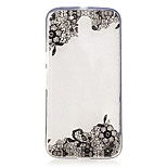 For Motorola Moto G4 Play G4 Plus Case Cover Lace Flowers Pattern Painted High Penetration TPU Material IMD Process Soft Case Phone Case