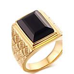 Муж. Массивные кольца Кольцо Мода Панк По заказу покупателя Хип-хоп Rock Euramerican бижутерия Титановая сталь Геометрической формы