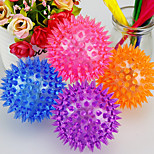 Cat Toy Dog Toy Pet Toys Ball Foldable Durable Halloween Cage Ball Rubber Random Color