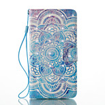 For Huawei P9 Lite  P8 Lite (2017) Card Holder Wallet with Stand Flip Pattern Case Full Body Case Mandala Hard PU Leather