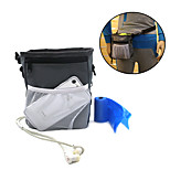 Dog Bowls & Treat Pouch Bag Pet Bowls & Waste Bag  Feeding Training Waterproof Portable Gray
