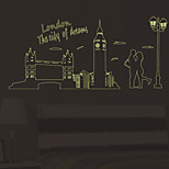 Luminous Wall Stickers London The City of Dream Wall Decals Home Decor For Couples Love Glowing Decals