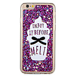 For Apple iPhone7 7 Plus Case Cover Pattern Back Cover Case Glitter Shine Word / Phrase Food Soft TPU 6s Plus  6 Plus 6s 6
