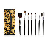 1set Makeup Brush Set Synthetic Hair Full Coverage Portable Wood Face Eye Lip