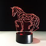 juokseva hevonen akryyli johti 3d lamppu yöpöytälamppu johti yövalo värikäs kaltevuus light olohuone valot lasten lahja lelut