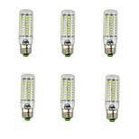 6pcs Smart IC SMD5730 89Led E27 LED Corn Lights Warm Cool White Decorative Corn Bulb lampada led Lamps AC220-240V