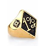Массивные кольца Кольцо Мода Панк По заказу покупателя Хип-хоп Rock Euramerican Титановая сталь Геометрической формыЗолотой Черный