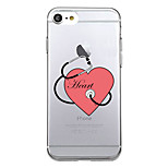 For Ultra Thin Pattern Case Back Cover Case Word Phrase Soft TPU for iPhone 7 Plus  7  6s Plus 6 Plus  6s SE 5S 5