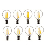 ® Shenmeile 4.5W E14 E27 LED Filament Bulbs G45 6 COB 600 lm Warm White Decorative AC220 AC230 AC240 V 8 pcs