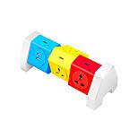 Bande de puissance couleur abstraite 6 ports avec port de chargement 2 usb 180 degrés de rotation libre sur la protection de la gamme