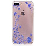 For IMD Transparent Case Back Cover Case Rattan Flower Soft TPU for iPhone 7 Plus 7 6s Plus 6 Plus  6s  6 SE 5S 5