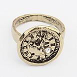 Euramerican Round  Vintage Alloy Rhinestone Daily Ring Movie Jewelry