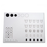 1pcs Silicone Multi-function nail polish fill color stamping  Template Plates Stamper