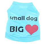Dog Vest Dog Clothes Casual/Daily Letter & Number Blue Blushing Pink