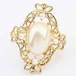 Euramerican Elegant Luxury Fashion Party Pearl Cuff  Ring Gift Jewelry