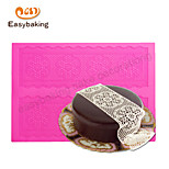 Round Flower Chain Lace Mat Cake Lace Decorate Silicone Mat Cake Decorating Cake Mat Moulds Mould Lace Fondant Mat