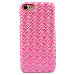 For Apple iPhone 7 7 Plus 6S 6 Plus Case Cover Weave Pattern Paste Skin PC Material Phone Case