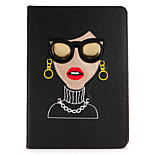 For Apple iPad Mini1 2 3/4 Case Cover with Stand Flip Pattern Full Body Case Sexy Lady Hard PU Leather