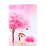 For Apple iPad 4 3 2 Case Cover Flower Tree Pattern Card Stent PU Material Flat Protection Shell