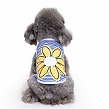 Cat Dog Shirt / T-Shirt Vest Dog Clothes Summer Flower Cute Fashion Casual/Daily Sunflower