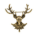 Women's Boys Other Brooches Animal Design Euramerican Vintage Personalized Gold Plated Alloy Deer Shape Bronze Silver Gold Jewelry For